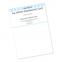 Pearlescent White Card 8 Sheet