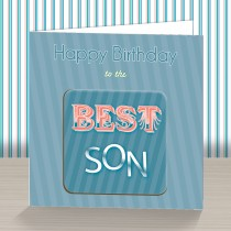 Best Son Coaster Card