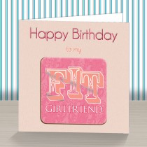 Fit Girlfriend Coaster Card