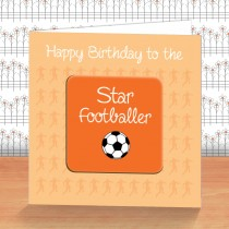 Orange Football Coaster Card