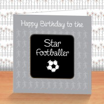 Black Football Coaster Card