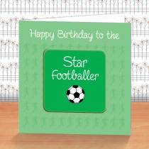 Green Football Coaster Card