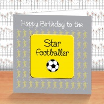 Yellow Football Coaster Card