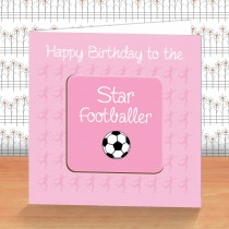 Pink Football Coaster Card