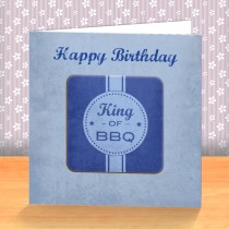 King of BBQ Coaster Card