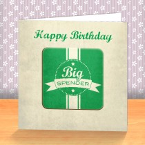 Big Spender Coaster Card