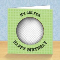 Golfer Coaster Card