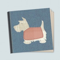 Scottie Blue Coil Scrapbook