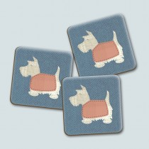 Scottie Blue Gloss Coaster
