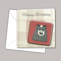 Kilt Coaster Card