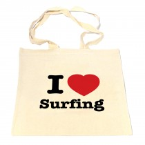 I [Heart] Surfing Shopper Bag