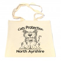 Cute Cat Cotton Shopper Bag