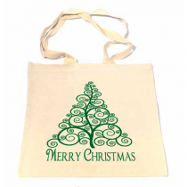 Swirls Christmas Tree Bag