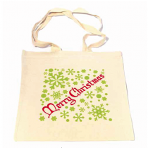 Gold Snowflake Shopper Bag