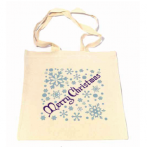 Silver Snowflake Shopper Bag