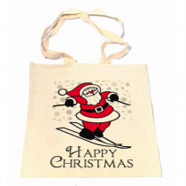Santa on Skis Shopper Bag