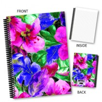 Large Pink Floral Notebook