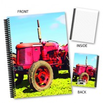 Red Tractor Coil Notebook