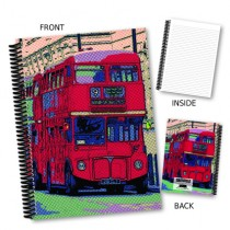 Vintage Red Bus Coil Notebook