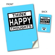 Happy Thoughts' Stitched Notebook