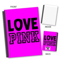 Love Pink' Coil Notebook
