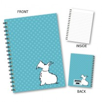 Blue Spot Dog Wiro Notebook