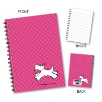 Red Spot Dog Wiro Notebook