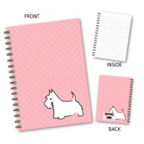 Peach Spot Dog Wiro Notebook