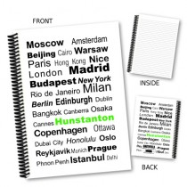 City Words Coil Notebook