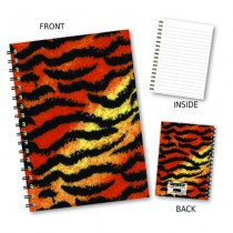 Tiger Style Print Wiro Noteboo