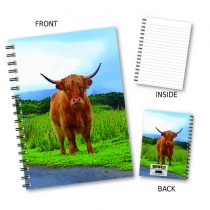 Country Highland Cow Notebook