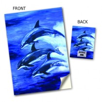 Dolphins Jumping Stitched Notebook