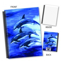 Dolphins Jumping Coil Notebook