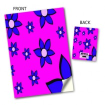 Flowers in Purple Notebook