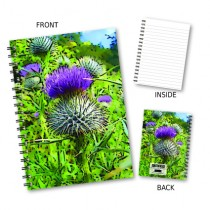 Coloured Thistle Wiro Notebook