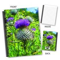 Coloured Thistle Coil Notebook