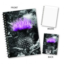 Lilac Thistle Wiro Notebook