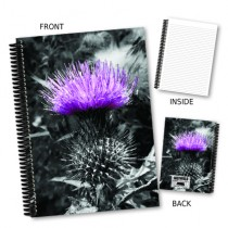 Lilac Thistle Coil Notebook