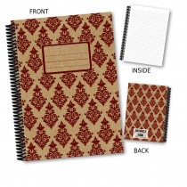 Maroon Patterned Notebook