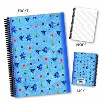 Delicate Blue Floral Notebook