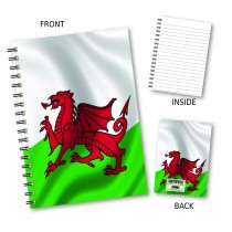 Welsh Flag Wiro Notebook