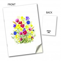Bright Floral Stitched Notebook