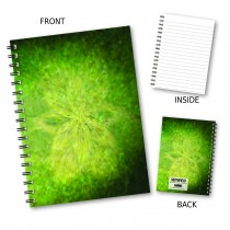 Abstract Flower Wiro Notebook