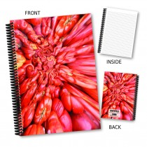 Red Abstract Design Notebook
