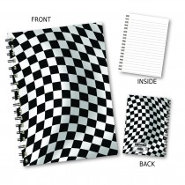 Chequer Design Wiro Notebook