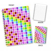 Coloured Squares Wiro Notebook