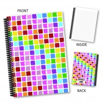 Coloured Squares Notebook