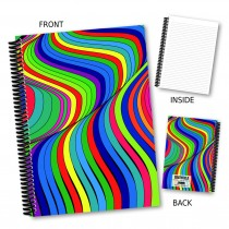 Bright Rainbow Swirl Notebook