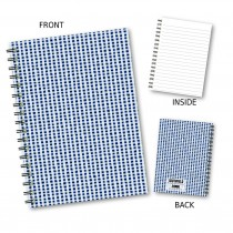 Black/White Gingham Notebook