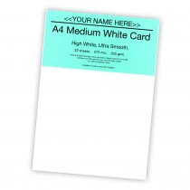 P-White Card 225gsm -22 sheets
